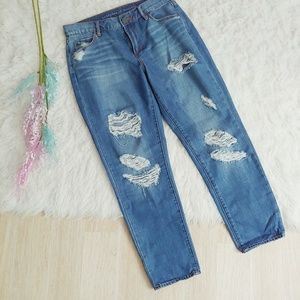 Articles of Society Distressed Skinny Ankle Jeans